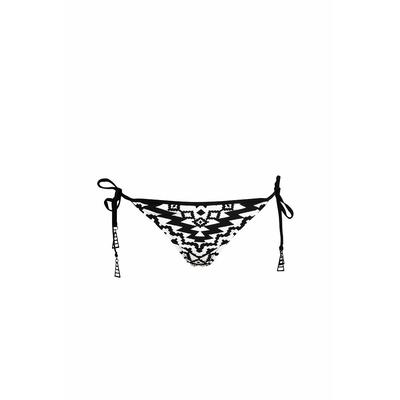 Maillot de bain brésilien noir et blanc Kasbah (bas)