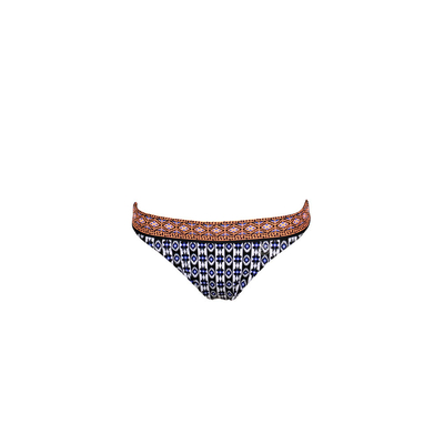 Maillot de bain culotte imprimé bleu Anafi (Bas)