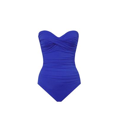 Maillot de bain une pièce bandeau Barcelona bleu