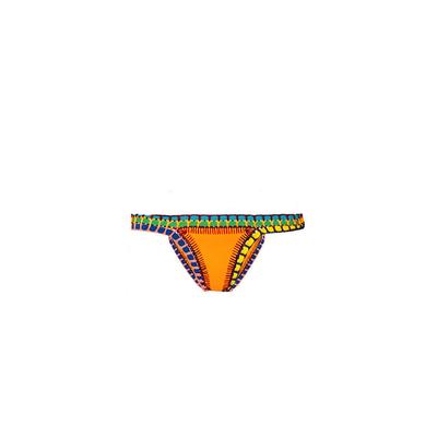 Bikini crochet culotte jaune orange (Bas)