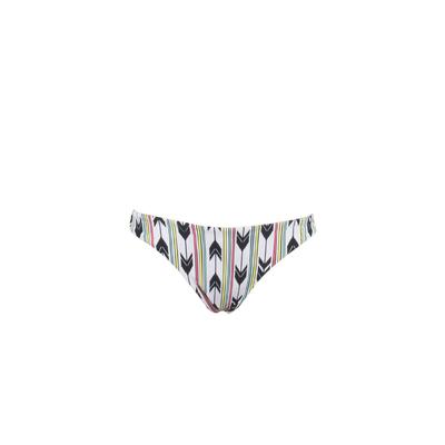 Mon Petit Bikini blanc Fleche multicolore - Maillot de bain tanga (Bas)