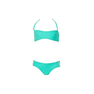 Mon Mini Teenie Bikini vert émeraude - Maillot de bain 2 pièces fille