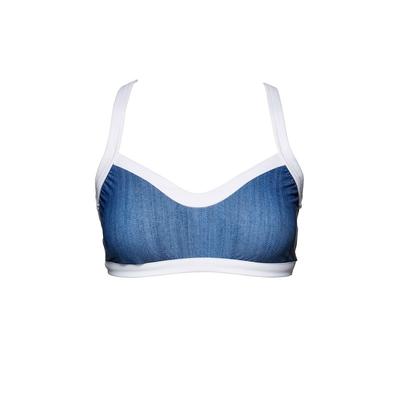 Maillot de bain brassière bleu jeans Block Party (Haut)