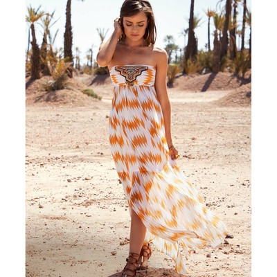 Robe de plage beige et orange Nomadic Beach