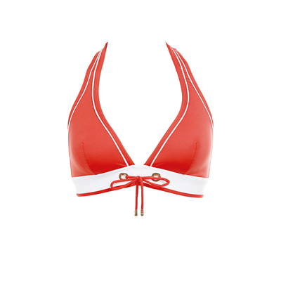 Maillot de bain triangle rouge orangé Look At Me (Haut)