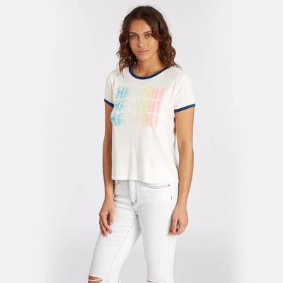 Tee shirt de plage blanc Contrast Ringer