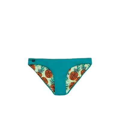 Maillot de bain culotte bleue réversible Gardens (Bas)