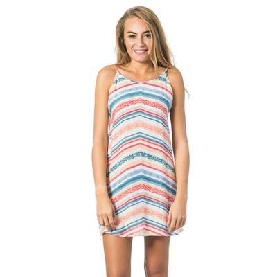 Robe de plage rayée multicolore Sun Gypsy
