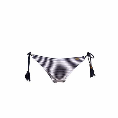 Maillot de bain culotte à noeuds bleu marine Basil (Bas)