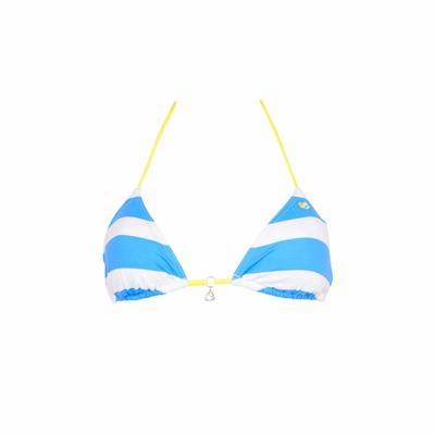 Maillot de bain triangle bleu azur Deerfield (Haut)