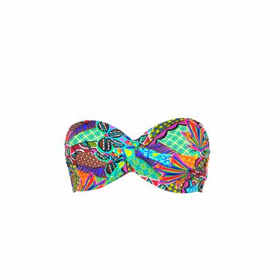 Maillot de bain bandeau twist multicolore Habanera (Haut)