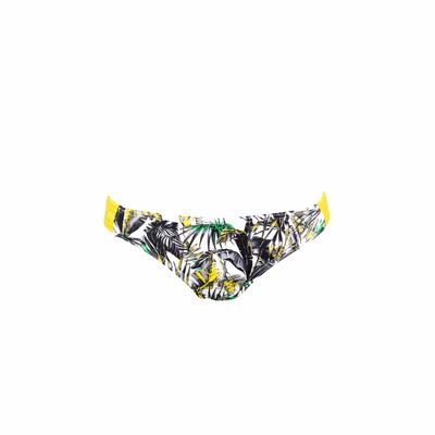 Maillot de bain culotte blanc imprimé Junglelin (Bas)