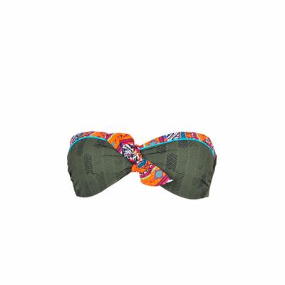Maillot de bain bandeau vert kaki Kilavea (Haut)