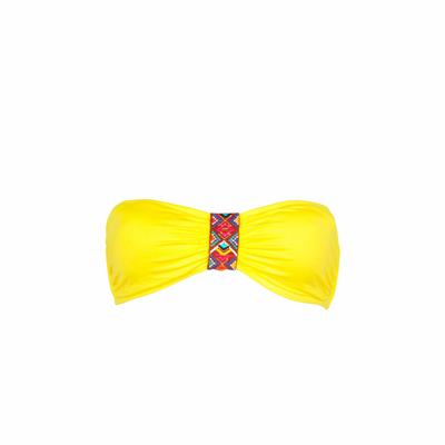Maillot de bain bandeau jaune Ninabell (Haut)