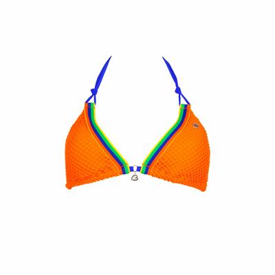 Maillot de bain triangle orange Sunfit (Haut)