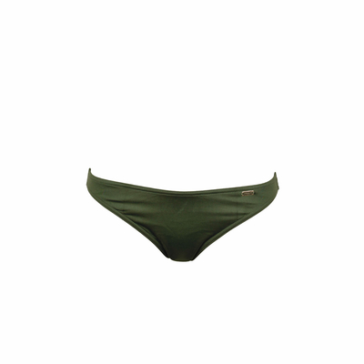 Maillot de bain culotte vert kaki uni Swamis (Bas)