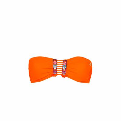 Maillot de bain bandeau orange Totem (Haut)