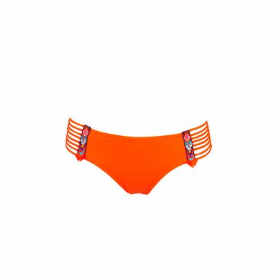 Maillot de bain culotte orange multi-liens Totem (Bas)