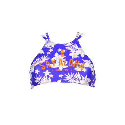 Teens - Maillot de bain brassière bleue Racer (Haut)