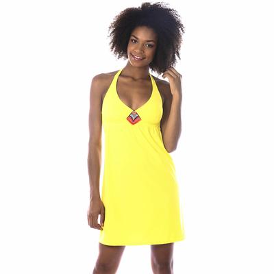 Robe de plage jaune Totem