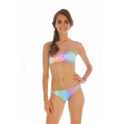 Teens - Maillot 2 pièces bandeau multicolore Bubble