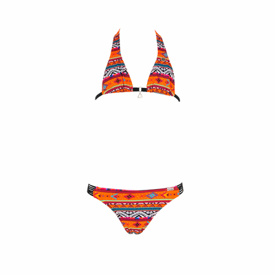 Maillot de bain 2 pièces orange éthnique Minaro