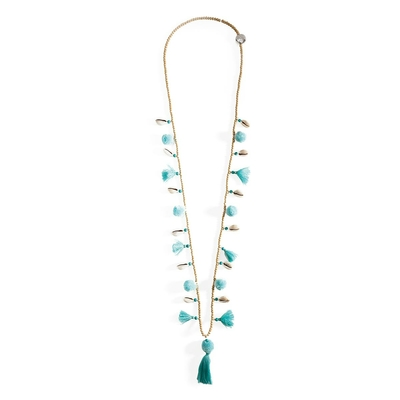 Collier bleu turquoise Lila