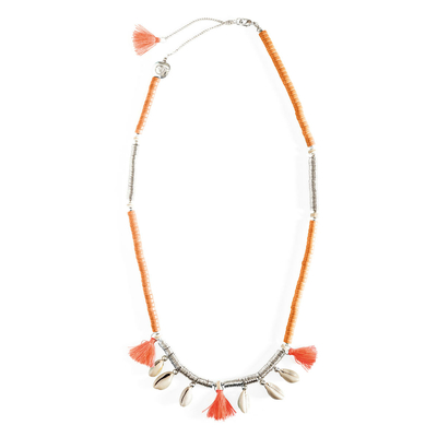 Collier orange corail Lycia
