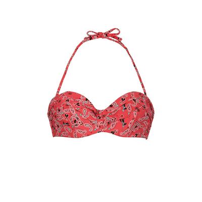 Maillot de bain bandeau rouge Paisley (Haut)