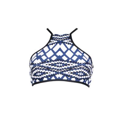 Maillot de bain brassière bleu acier Modern Tribe (Haut)