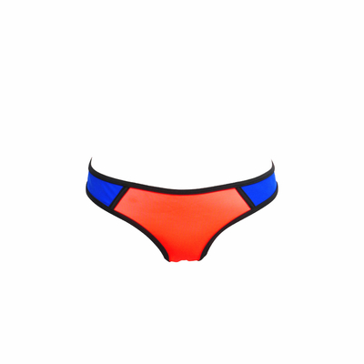 Mon Bikini Néoprène corail et bleu roi (Bas)