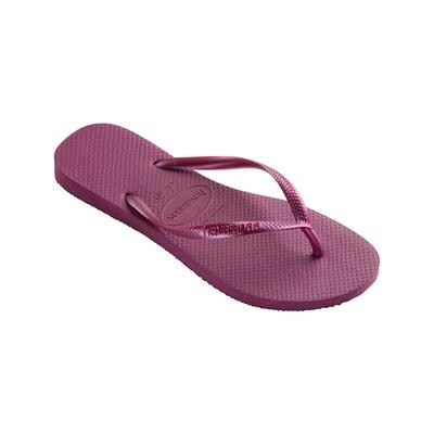 Tongs violettes Slim