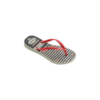 Tongs Blanches et Rouges Slim Havaianas Kids