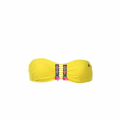 Maillot de bain Bandeau Totem jaune citron (Haut)