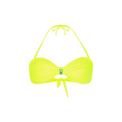Maillot de bain bandeau jaune fluo Uniswim (Haut)