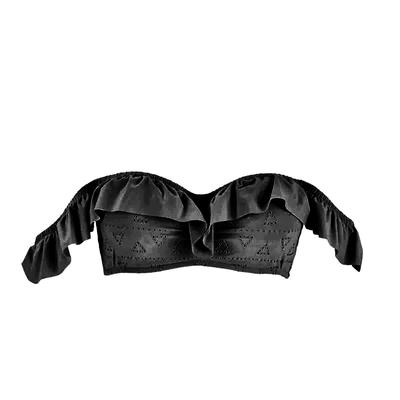 Maillot de bain bandeau noir Lola (Haut)
