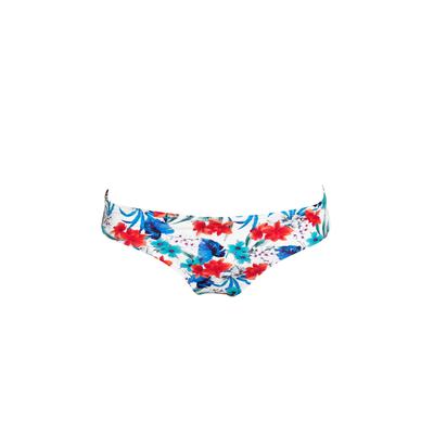Maillot de bain tanga blanc Flowers (Bas)