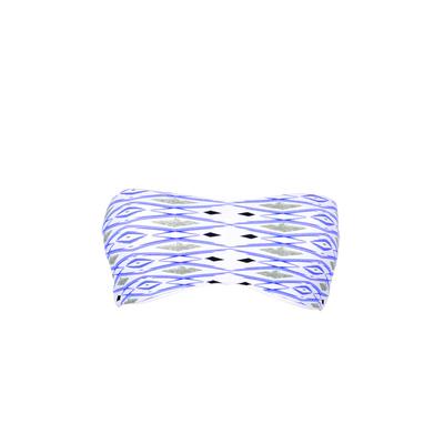 Maillot de bain bandeau bleu réversible Casoria (Haut)