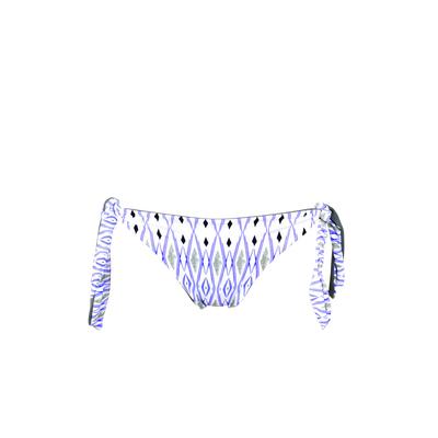 Maillot de bain culotte échancrée bleue réversible Gaucin (Bas)
