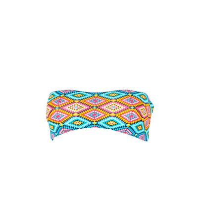Maillot de bain bandeau multicolore Moselle (Haut)