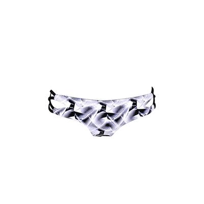 Maillot culotte échancrée noir et blanche réversible Pirot (Bas)