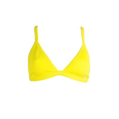Mon Néoprène Bikini Triangle Jaune (Haut)