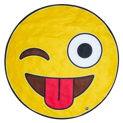Serviette de plage jaune Emoji