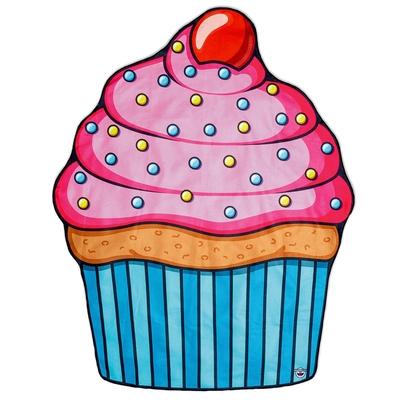 Serviette de plage cupcake multicolore