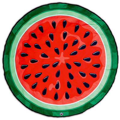 Serviette de plage rouge et verte Pastèque
