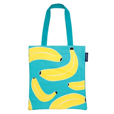 Tote bag de plage bleu Banane