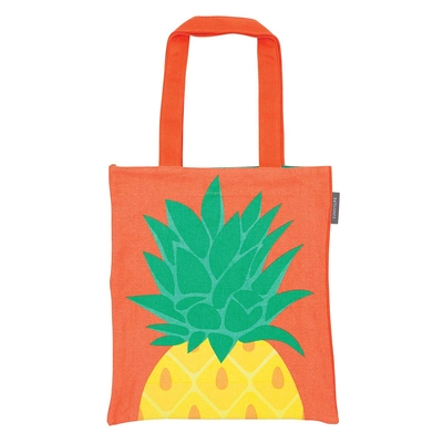 Tote bag de plage orange Ananas