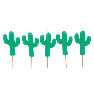 Bougies d'anniversaire vert Cactus