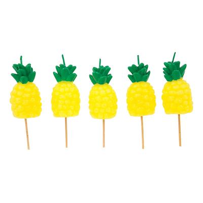 Bougies d'anniversaire jaune Ananas
