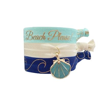 Lot de bracelets brésiliens bleu Bora Bora
